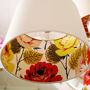 Polly Barkcloth And Linen Lampshade