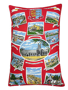 Vintage Great Yarmouth Cushion/ Pillow - cushions