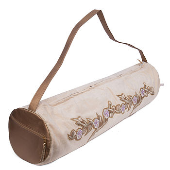 Holistic Silk Yoga Mat Bag cream