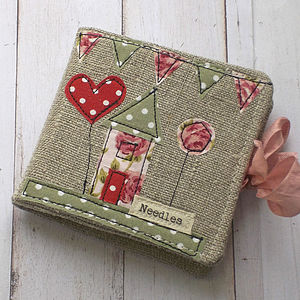 Rose Cottage Linen Needle Case - shop by price