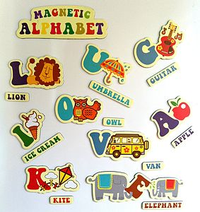 Retro Alphabet Fridge Magnet Set - children's room accessories
