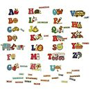 Retro Alphabet Fridge Magnet Set
