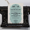 Vintage Style Wedding Day Invitation