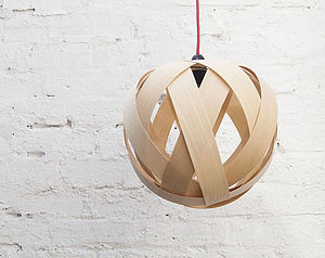 Small Rosebud Wood Lampshade - lampshades