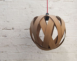 Small Rosebud Wood Lampshade - dining room