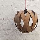 Small Rosebud Wood Lampshade