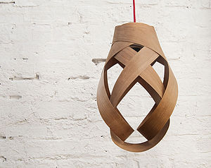 Random Wood Pendant Lampshade - dining room