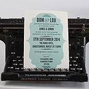 Vintage Style Wedding Evening Invitation