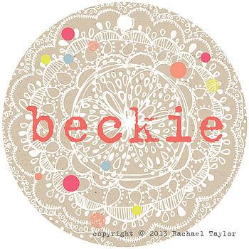 Beckie Name Tag