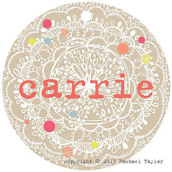 Carrie Name Tag