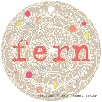 Fern Name Tag