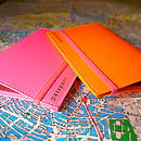 Neon Leather Passport Case