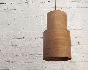 Retro Wood Pendant Lampshade - bedroom
