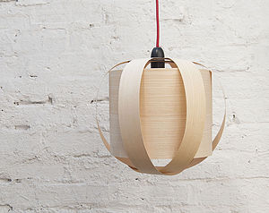 Drum Wood Lampshade - bedroom
