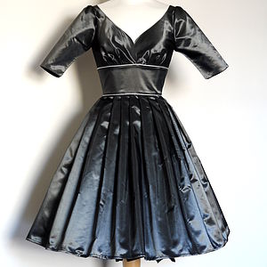 Vintage Taffeta Evening Dress - women's fashion