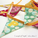 Example of personalised bunting in brights