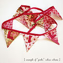 Example of personalised bunting in pinks