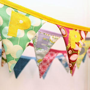 Handmade Personalised Mini Bunting - outdoor decorations