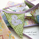 Example of mini bunting in pastels