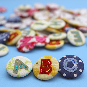 Personalised Fabric Alphabet Badge - wedding favours