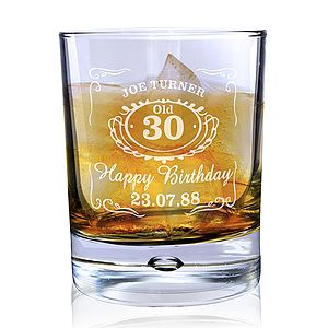 Personalised 'Jack Daniels' Whisky Glass - drink & barware