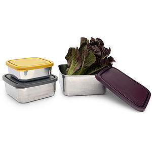 U Konserve Square Nesting Trio Containers - lunch boxes & bags