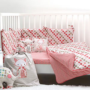 Cot Bedding Set For Girls - cot bedding