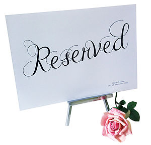 Reserved Wedding Sign - view all sale items