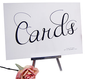 Cards Wedding Sign - home sale