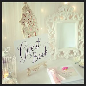 Wedding Guest Book Sign - room decorations