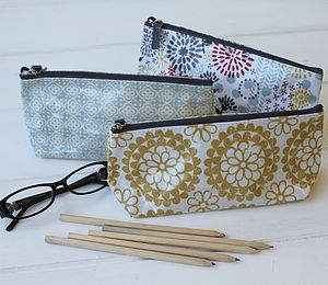 Pastel Print Make Up Bags - women's accessories