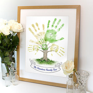Personalised Hand Print Tree - nursery pictures & prints