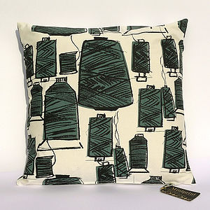 Threads Hand Screen Printed Cushion