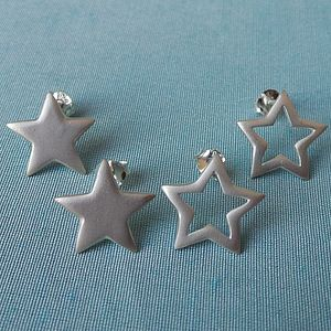 Personalised Star Stud Earrings - earrings
