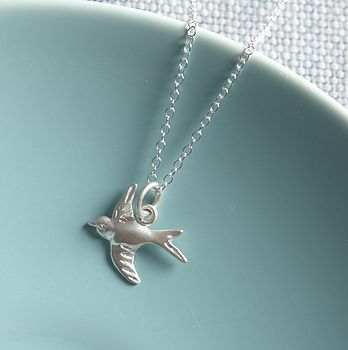 Silver Tiny Bird Necklace