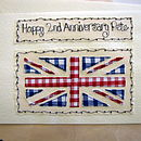 Union Jack Anniversary Card