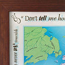 Personalised Framed Push Pin Map