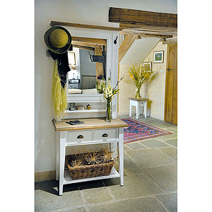 French Country Console Table & Hall Mirror - furniture