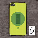 Personalised Letter Case For IPhone