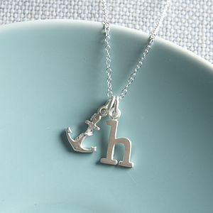 Silver Anchor Necklace - charm jewellery