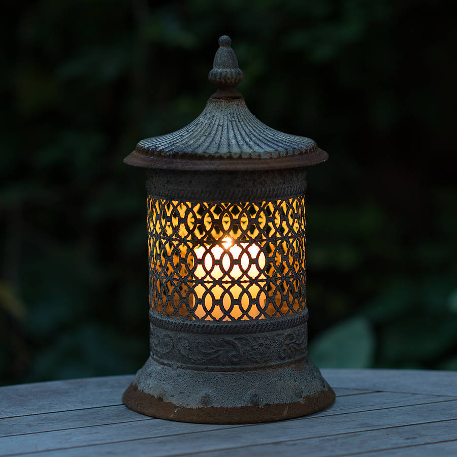 Moroccan Style Ornate Candle Lantern By The Flower Studio