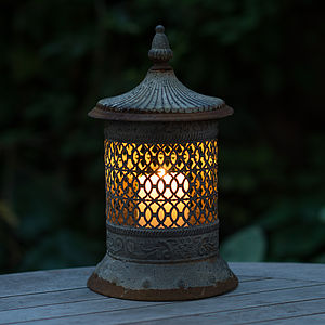 Moroccan Style Ornate Candle Lantern - lights & candles