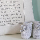 Personalised Baby Wish Cushion