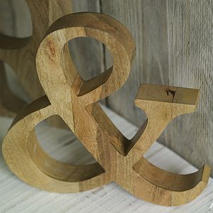 Mango Wood Letters - decorative accessories