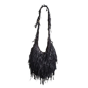 Besace Frange Cross Body Leather Tassel Bag - cross-body bags