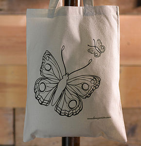 Butterfly Colour In Tote Bag - toys & games