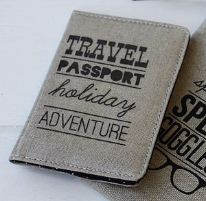 Typography Passport Cover - bags & purses