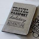 Typography Passport Cover