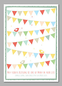 Personalised Bunting Signature Print