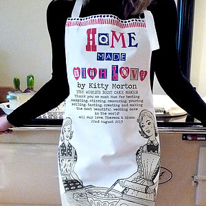 'Home Made With Love' Personalised Apron - kitchen accessories